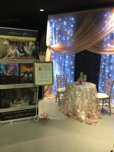 Spring Bridal show vendor booth