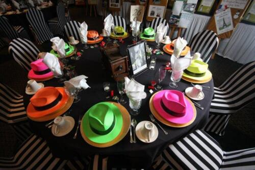 The Mask theme table decor