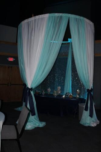 Under the Sea Prom Candy Table Draping