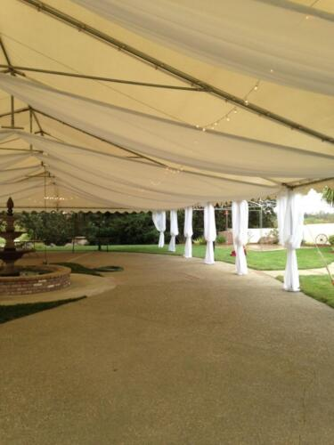 tent drape white