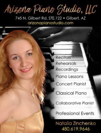 Natalia Arizona Piano Studio Advertisement