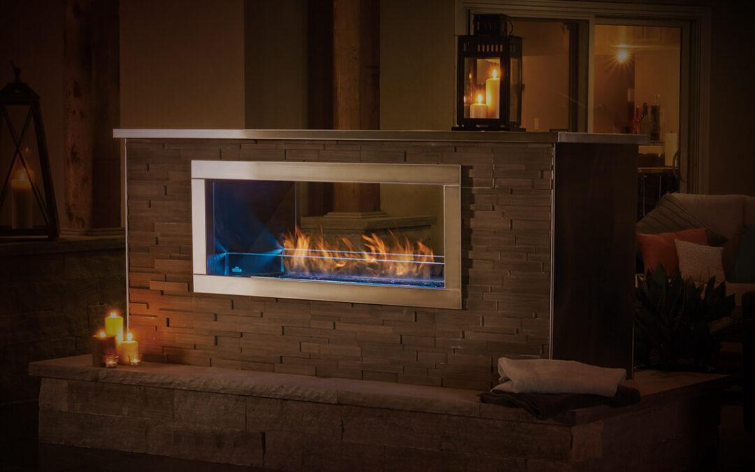 Bring the comfort of an outdoor fireplace to your backyard