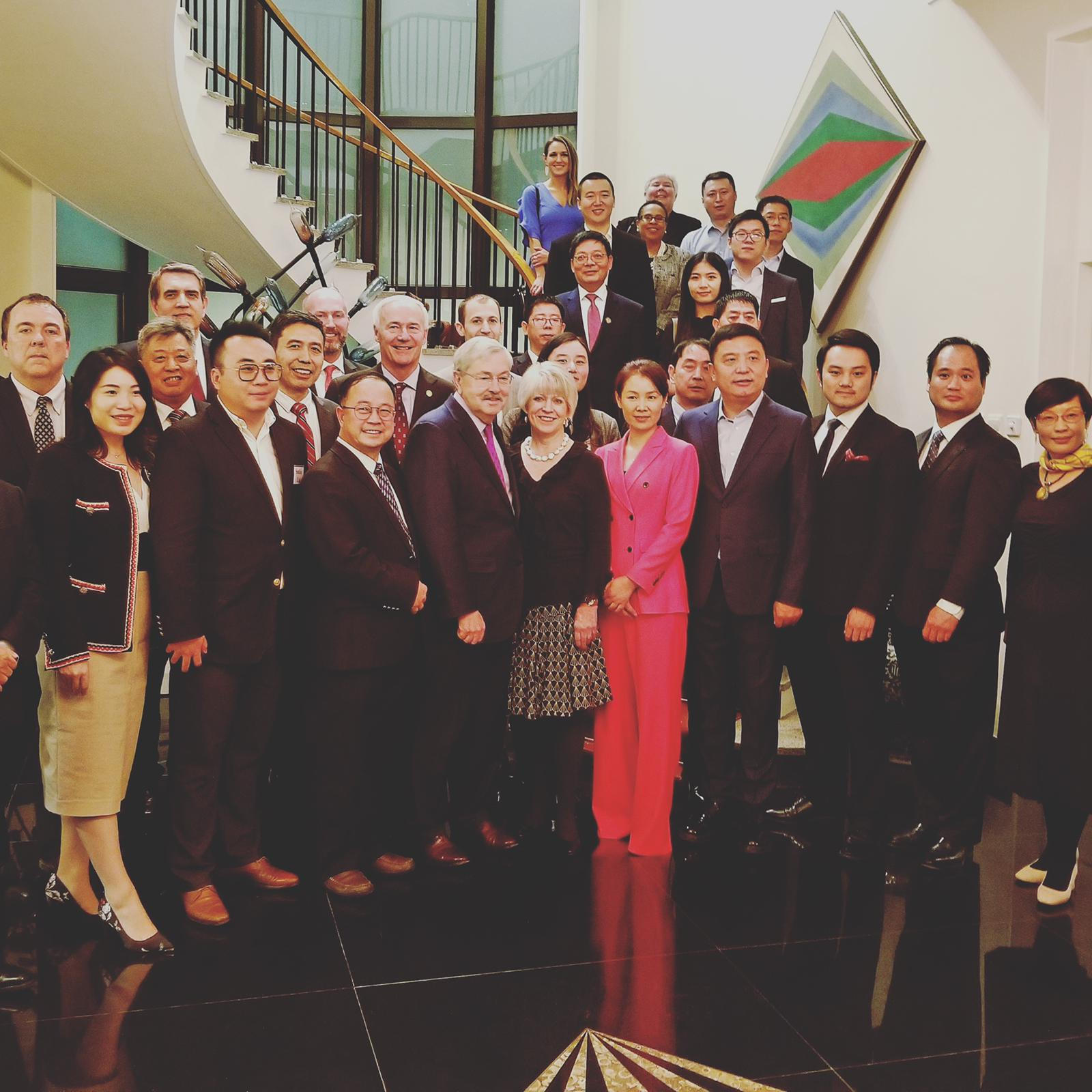Asa Hutchinson Law Group founder and managing partner Asa Hutchinson III attended the Residence of the US Ambassador to China Terry Branstad.