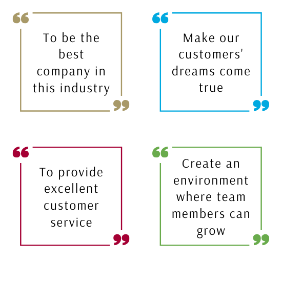"Quote 1: ""To be the best company in this industry"" 