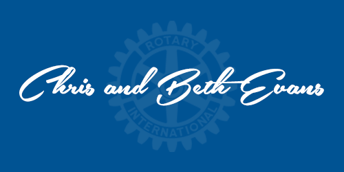 Chris and Beth Evans - Sponsors