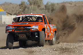 Editorial Services West image of desert race truck