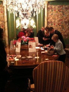 The exquisite dining room in Jan's Dallas home, at the KATIE book party