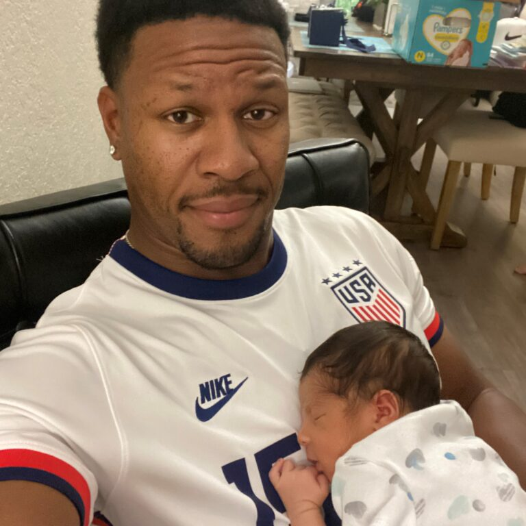 """Aaron Wood Says Being a Father Means Becoming """"A person that my son can look up to,"""""""
