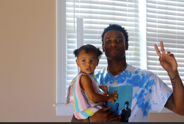 Kyi Hawkins says that his dad showed him how to be a great father and husband.