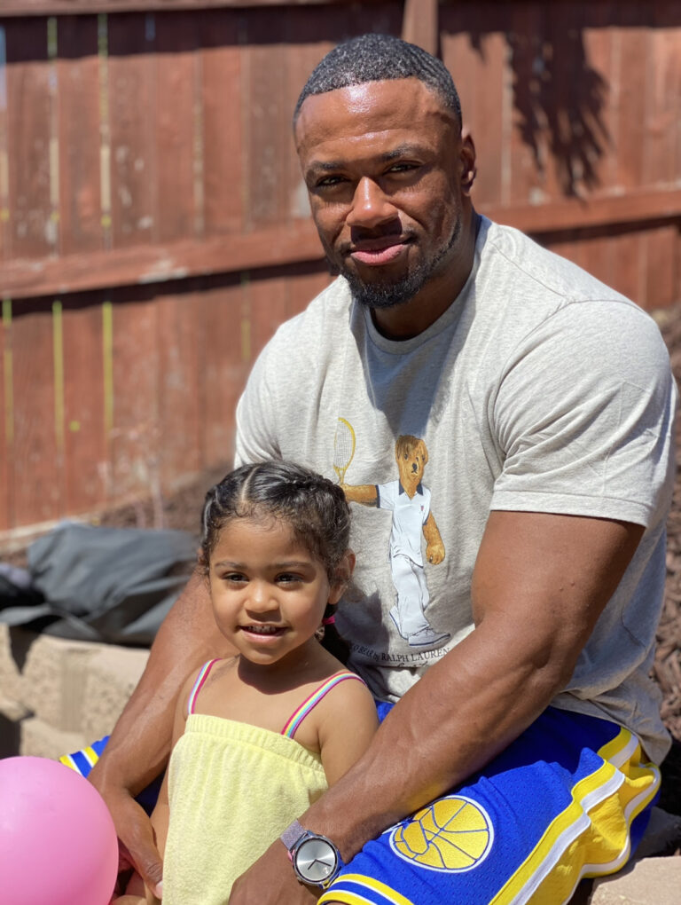 """Aaron Pierce says """" I built a fire inside of me to become better and be the best father i could be """""""