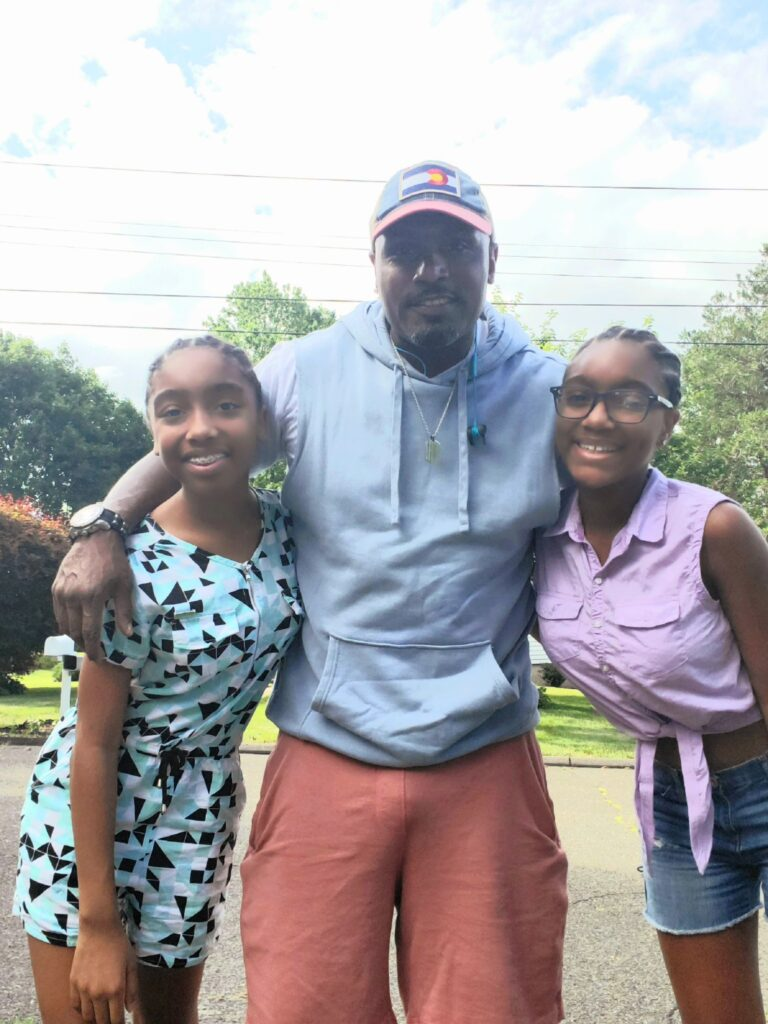 """Ajaye Brewington says """" What a father means to me is being the example of a real man to my daughters """""""