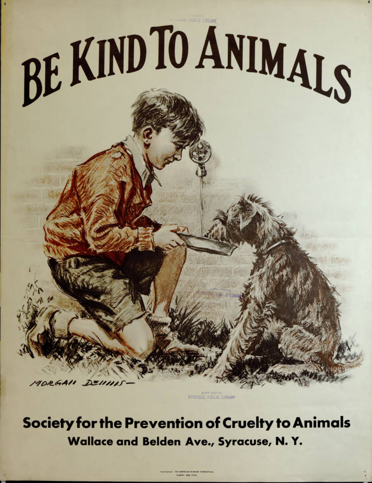 Posters by the Society for the Prevention of Cruelty to Animals