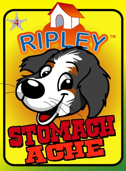 graphics from Stomach Ache - ripley the dog
