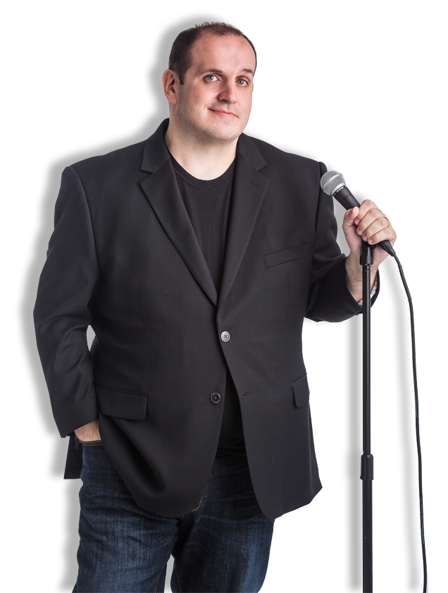 Brian Standing, with a Mic Stand