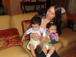 Filiz with Justice and Jasmine