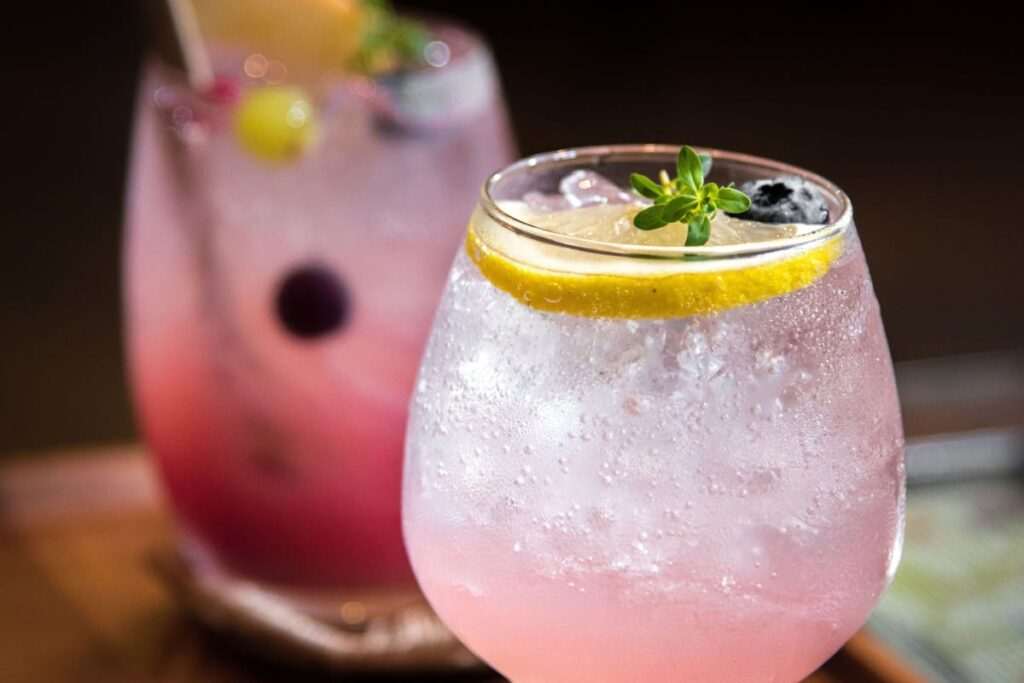 Image of drinks to suggest mocktails, not alcohol to help during flu season.