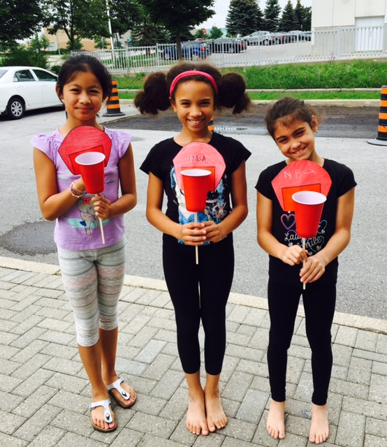 Academy Sport and Fitness Camp - Kids showing their summer project