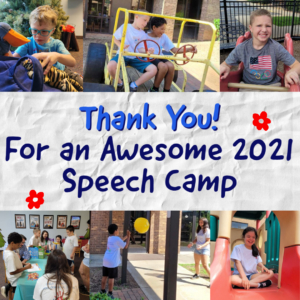 Thank you for an awesome 2021 speech camp