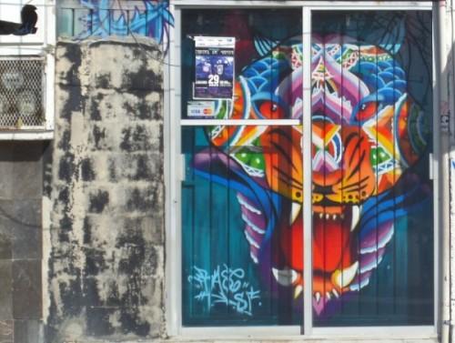 street art mural in Playa Del Carmen