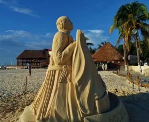 Sand Sculpture Playa Del Carmen Mexico