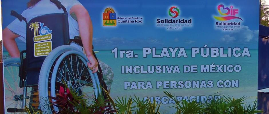 Handicap Beach access Playa Del Carmen