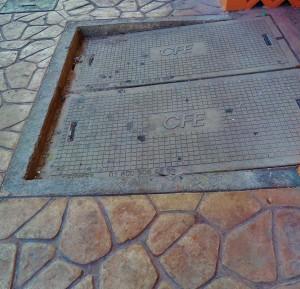 Sidewalk in Playa Del Carmen