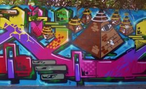 Street art murals in Playa Del Carmen