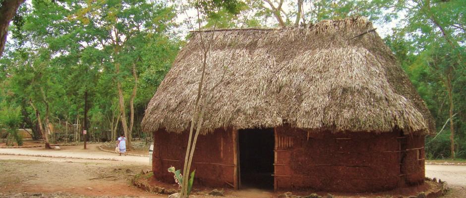 Chichen Itza typical Mayan House