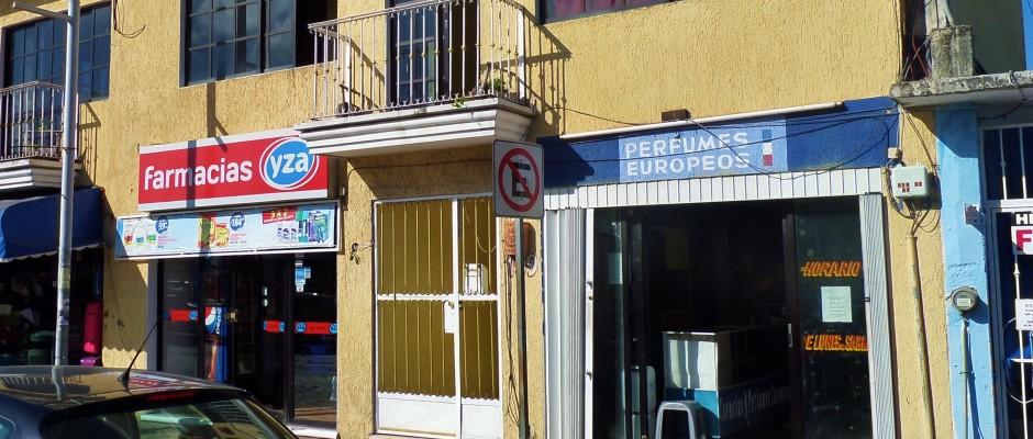 Location on Juarez Avenue Perfumes Europeos Playa Del Carmen Mexico