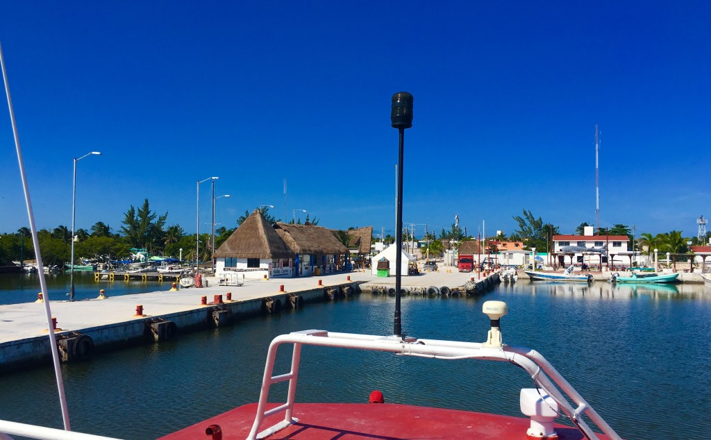 Ferry arriving in Holbox Island from Chiquila