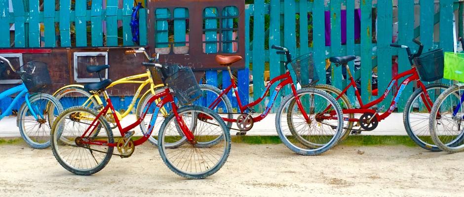 bicyling on Holbox Island