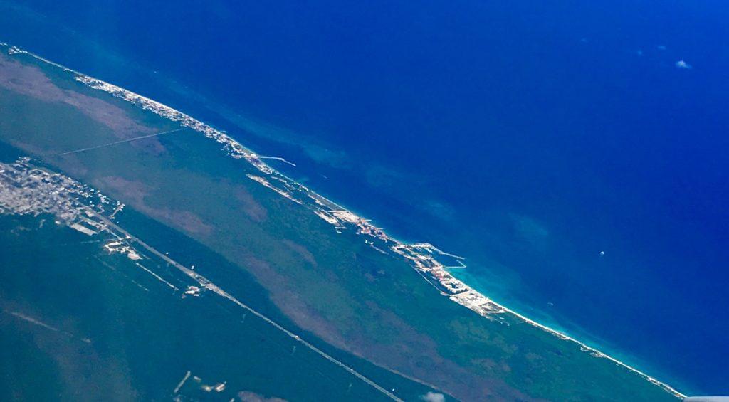 Aerial photo of Puerto Morelos