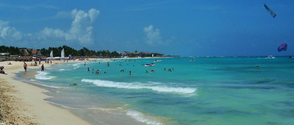 Mamitas beach playa del carmen mexico