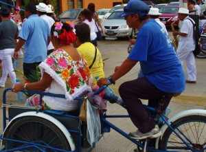 tricycle bikes in the Yucatan