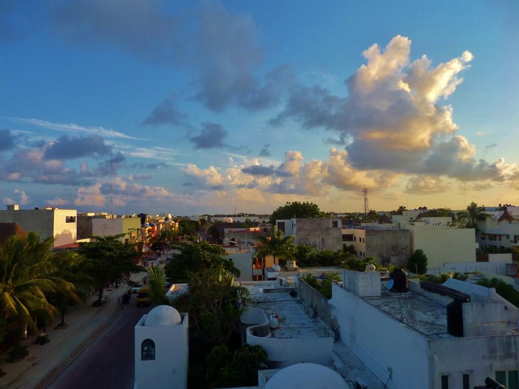 Sky, clouds, Playa del carmen, sunset