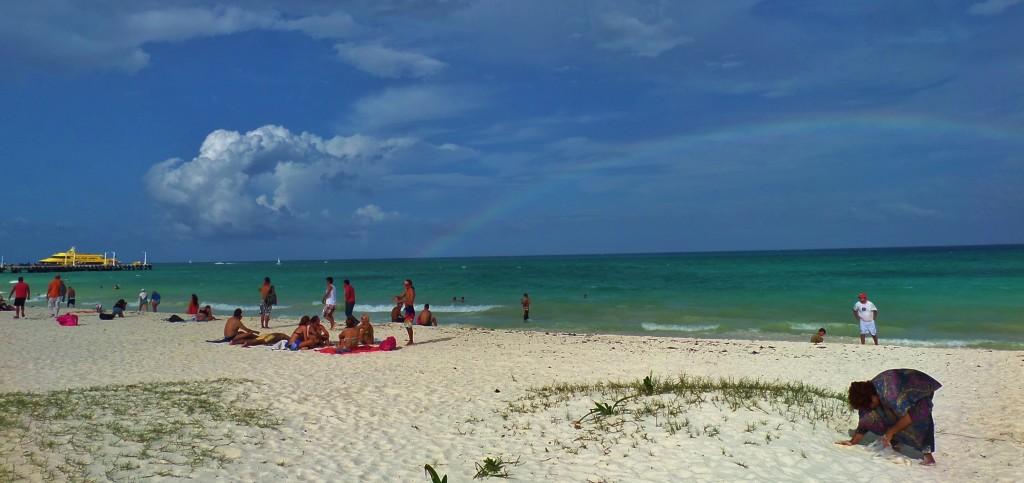 Rainbow, Playa Del Carmen, Sky beach