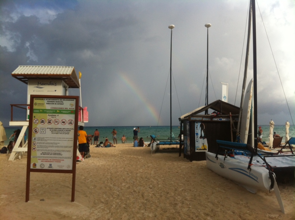 Rainbow in Playa Del Carmen