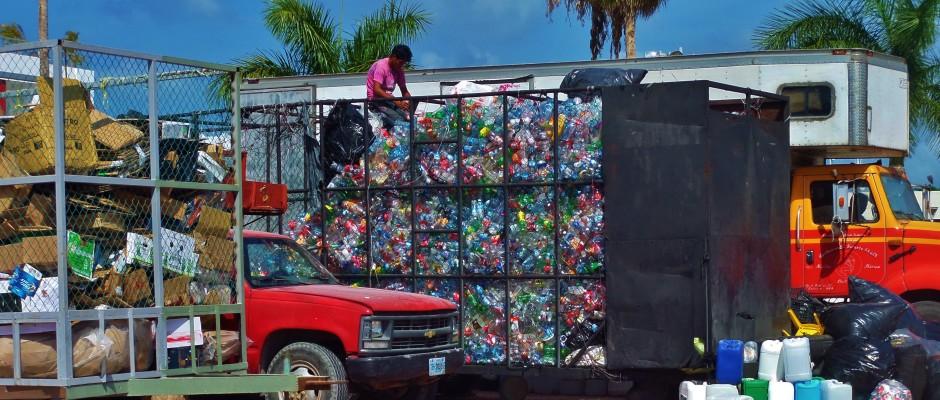 Plastic recycling, Playa Del Carmen