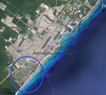 Playacar map playa del carmen