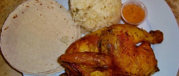 La Brocherie roast chicken in Playa Del Carmen Restaurant