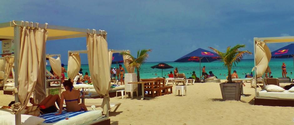 Beach Clubs in Playa Del Carmen Mexico