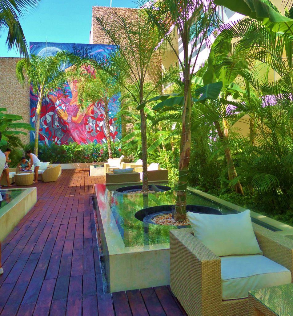 Mural at the Palm Hotel in Playa Del Carmen