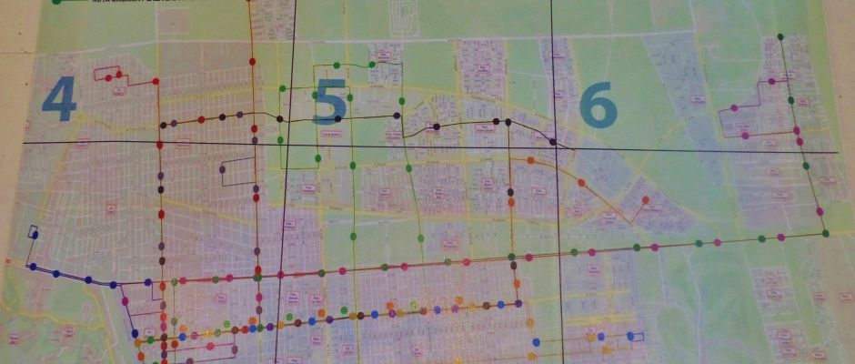 Playa Del Carmen map of bus routes