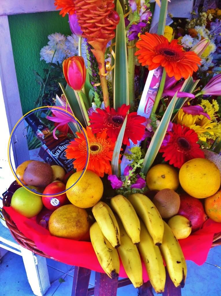 Funny flower arrangement