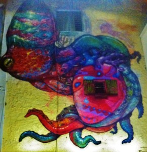 Street mural in Playa Del Carmen