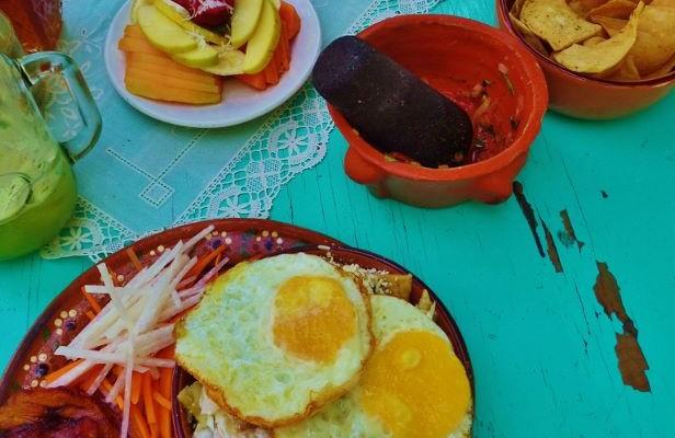 Breakfast in Playa Del Carmen at Fonda Regina