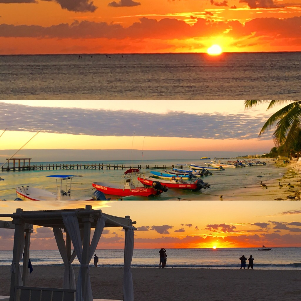 Sunrises in Playa Del Carmen
