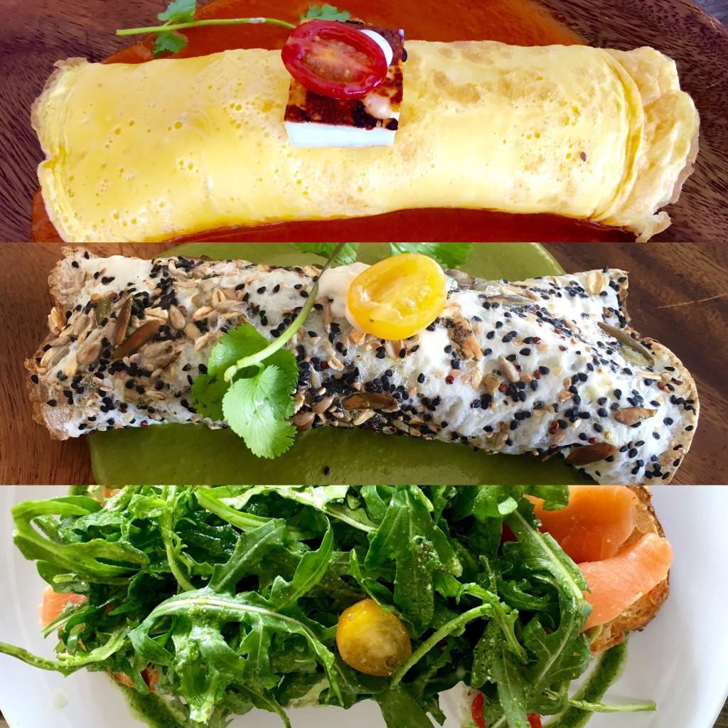 Breakfast menu items at C-Grill Restaurant