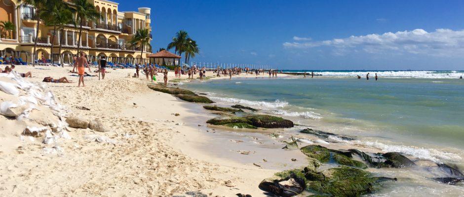 Playa Del Carmen beach erosion