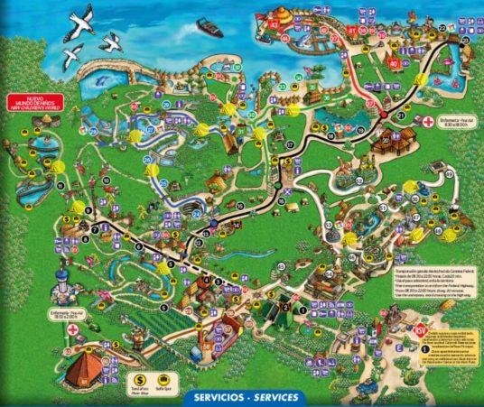 Xcaret map
